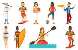 Vector set of sport characters. Royalty Free Stock Photography