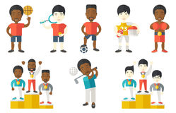 Vector set of sport characters. Royalty Free Stock Photos