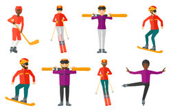 Vector set of sport characters. Stock Image