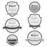 Vector set of sport emblems. Logo badges and labels. Vector set of sport emblems. Black and white. Logo badges and labels. Grouped for easy editing. On white Royalty Free Stock Photography
