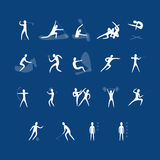 Vector set of sport icons. Stock Image