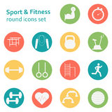 Vector Set of sport icons. Sport, fitness, gym workout Stock Photography