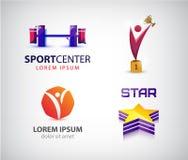 Vector set of sport logos, leadership, man, winner logo. Royalty Free Stock Photo