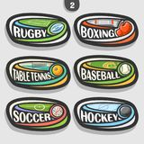 Vector set of sport logos Royalty Free Stock Photography