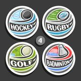 Vector set of sport logos Stock Image