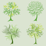 Vector set of spring tree design elements Stock Photos