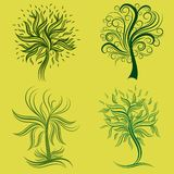 Vector set of spring tree design elements Royalty Free Stock Photo