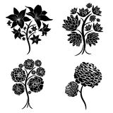 Vector set of spring tree design elements vector illustration