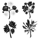 Vector set of spring tree design elements royalty free illustration