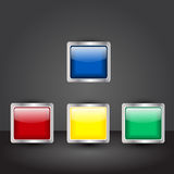 Vector set of square buttons Royalty Free Stock Images