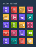 Vector Set Square Icons Royalty Free Stock Photography