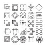 Vector set of Square and Rectangle experimental icons Stock Image