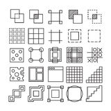 Vector set of Square and Rectangle experimental icons Royalty Free Stock Photography