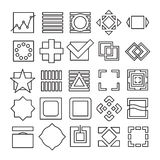 Vector set of Square and Rectangle experimental icons Stock Images