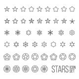 Vector set of star icons and pictograms Royalty Free Stock Image
