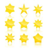 Vector set of star icons  on white Royalty Free Stock Image