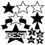 Vector set. Star. Royalty Free Stock Photography