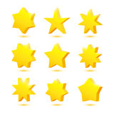 Vector set of stars Royalty Free Stock Images