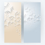Vector set stars elements background Stock Photo