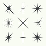 Vector set of stars Royalty Free Stock Photo