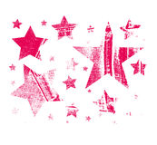 Vector Set of Stars. Stars with different patterns. Stars icons. Hand drawn doodle Stars. Royalty Free Stock Photography