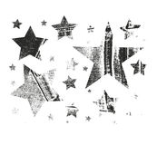 Vector Set of Stars. Stars with different patterns. Stars icons. Hand drawn doodle Stars. Royalty Free Stock Photos