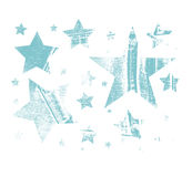 Vector Set of Stars. Stars with different patterns. Stars icons. Hand drawn doodle Stars. Stock Photos