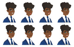 Vector set of stewardess characters. Royalty Free Stock Photography