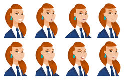 Vector set of stewardess characters. Stock Photography