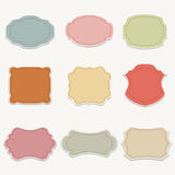 Vector set of  stickers Stock Photo