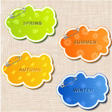 Vector set of stickers Stock Photos
