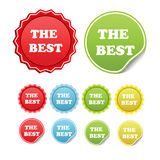 vector Set of stickers Royalty Free Stock Photography