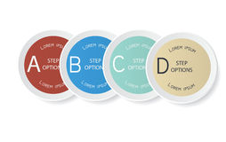 Vector set of stickers. Design template. Stock Photo