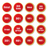 vector set of stickers and labels Stock Photography