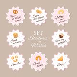 Set sticker with wishes. royalty free illustration