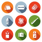 Vector Set of Street Crime Icons. Royalty Free Stock Photo