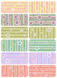 Vector set of strip patterns Stock Photography