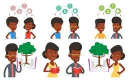 Vector set of student characters. Stock Photography