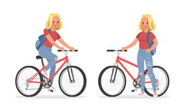 Vector set of students young woman character design. no4. Vector set of students young woman character design vector illustration