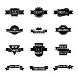 Vector set of style labels Stock Photos