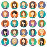 Vector set of stylish girls in modern flat design Royalty Free Stock Images