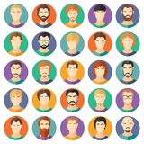 Vector set of stylish guys in modern flat design Royalty Free Stock Photos