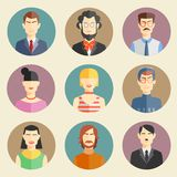 Vector set of stylish handsome male characters Royalty Free Stock Photography