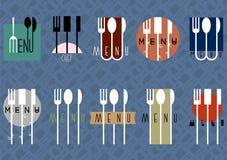 Vector set of stylish restaurant menu design. Vector EPS10 Royalty Free Stock Photography