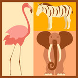 Vector set of stylized African animals Royalty Free Stock Photography