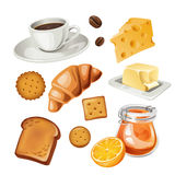 Vector set of stylized food icons. Set of stylized food icons stock illustration