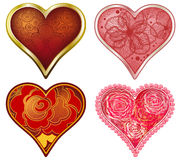 Vector set of stylized Hearts. Vector Illustration Stock Images