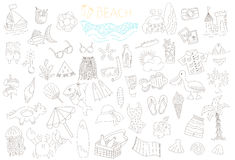 Vector set of summer doodles Royalty Free Stock Photos