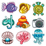 Vector set of Summer icons Stock Photo