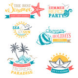 Vector set of summer labels and badges. Stock Photography